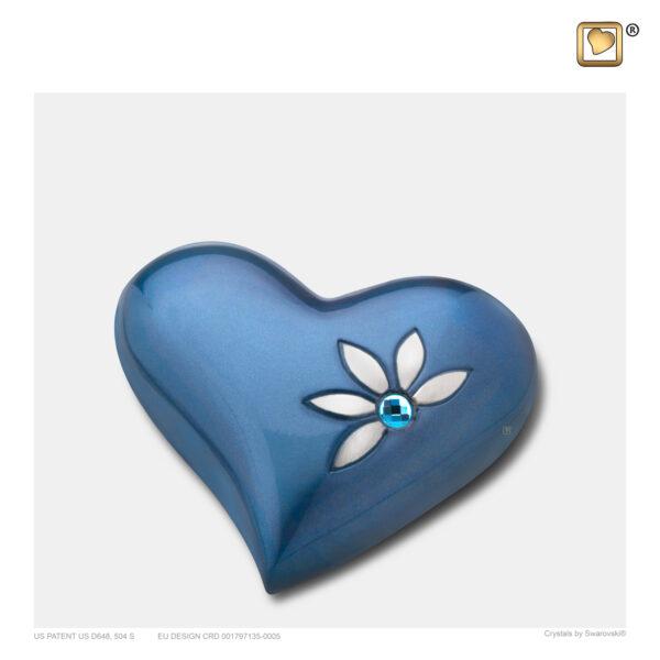 H271 Nirvana Azure Heart Urn loveurns