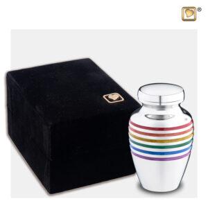 K222 Pride rainbow urn