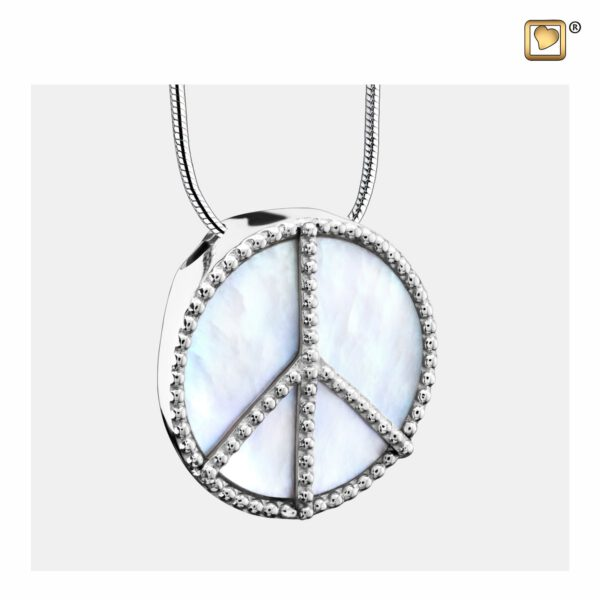 PD1320 PENDANT Peace™ Mother of Pearl Rhodium Plated
