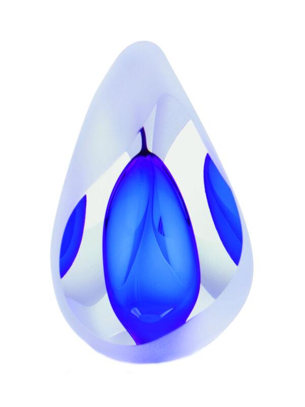 Urn glas reflection Blue