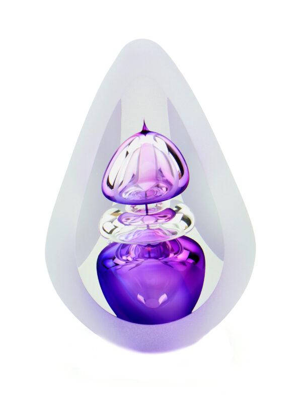Glazen urn Orion big purple