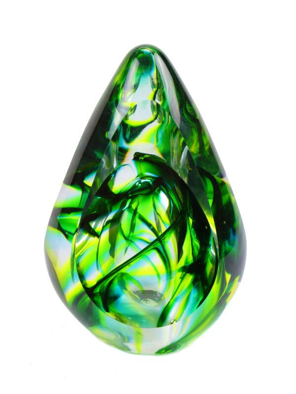 Glazen urn Aurora forest green