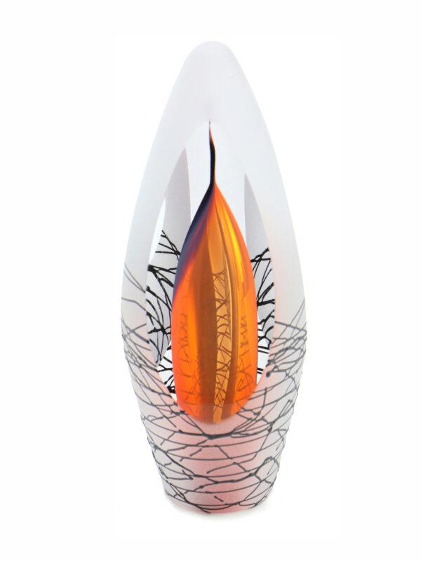 Glazen urn spirit krakele red