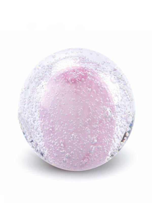 Glazen urn Stardust Bulb Transparant pink