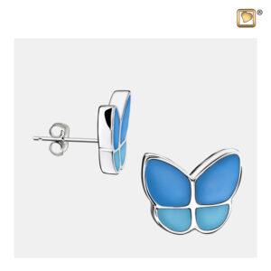ER1201 oorbellen vlinders blauw