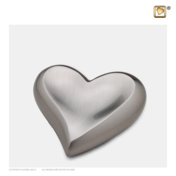 H250 Elegant floral heart keepsake urn loveurns