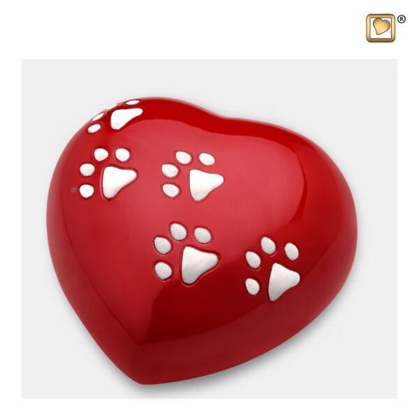 P632L Dierenurn hart rood
