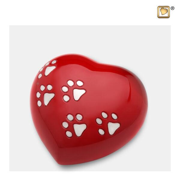 P632M Dierenurn hart rood