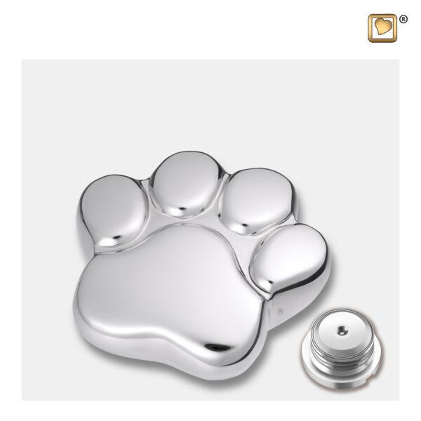 P670K Lovepaw urn zilver dierenurn