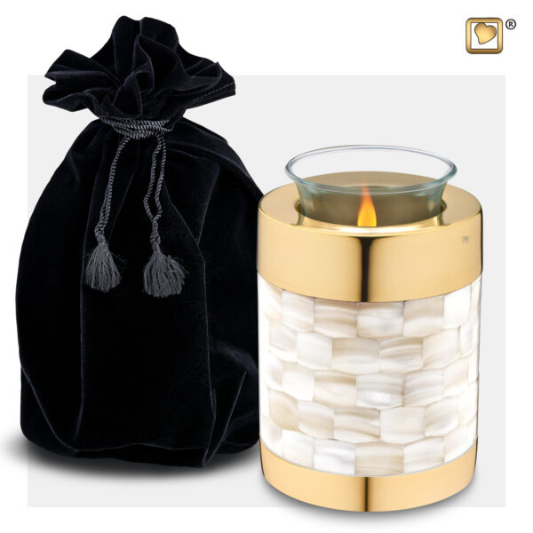 T230 Mother of Pearl Tealight Urn Loveurns