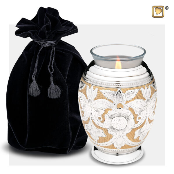 T250 Elegant Floral Tealight Urn Loveurns