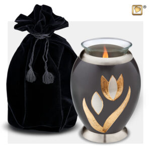 T502 Majestic Lillies Tealight Urn Loveurns