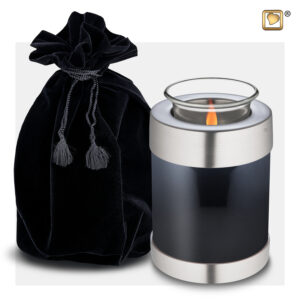 T650 Tealight Urn Black Loveurns