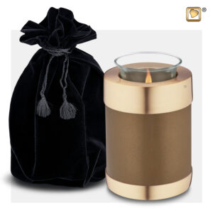 T651 Tealight Urn Brons Loveurns