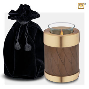 T652 Tealight Urn Bronze Loveurns
