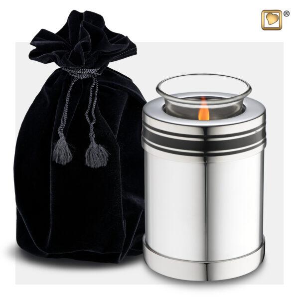 T669 Art Deco Tealight Urn