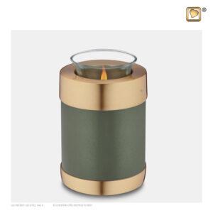 T672 Tealight Urn Green Loveurns