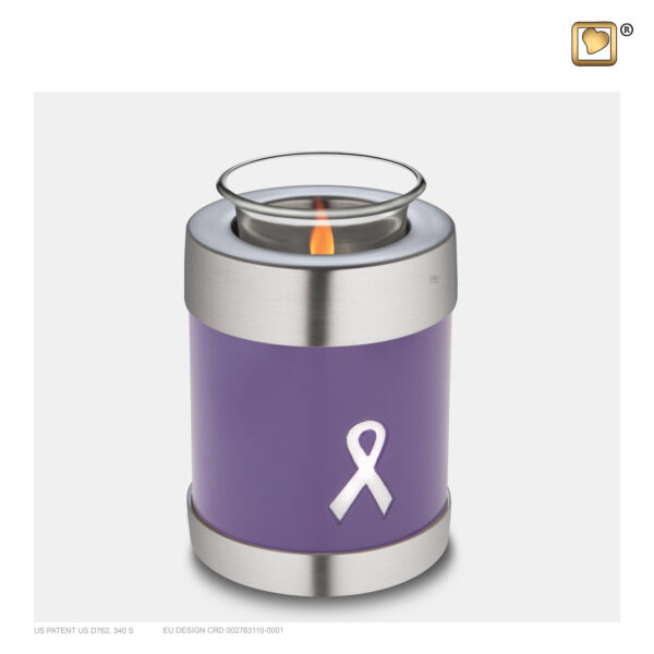 T901 Awareness Tealight Urn Purple Loveurns