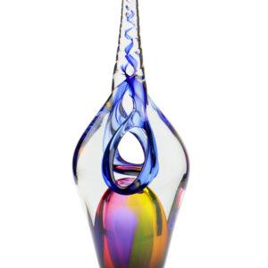 U12B Unicorn blauw glazen urn