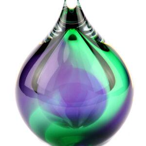 U31GP glazen urn groen paars