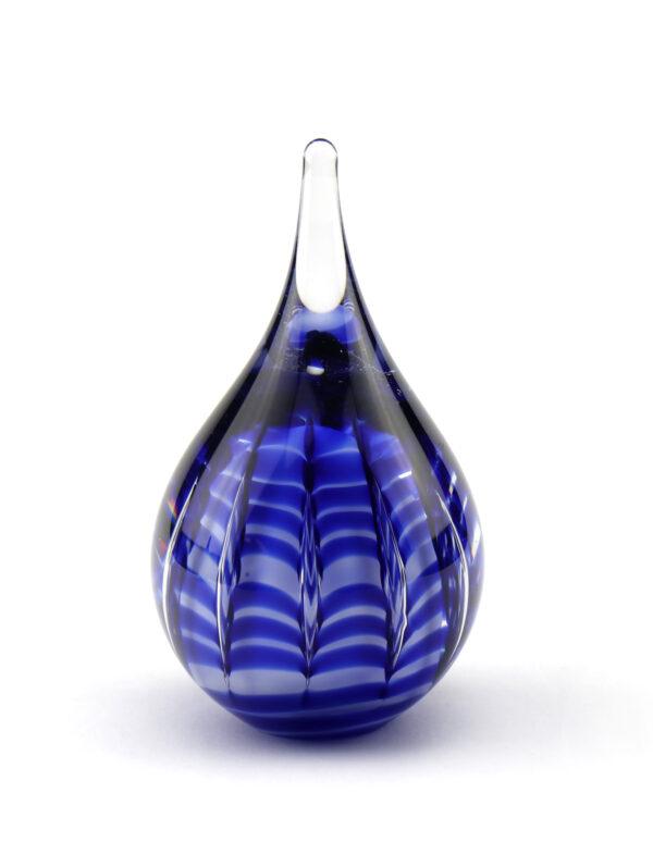 U Ripple glazen urn blauw