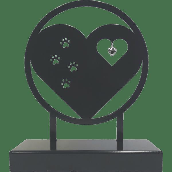 Dieren urn hart met pootjes