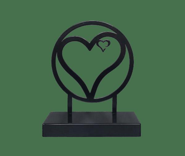 Urn staal hart uitvaartwinkel Deventer