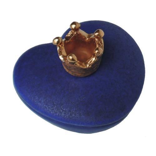 hart mini urntje blauw keramiek