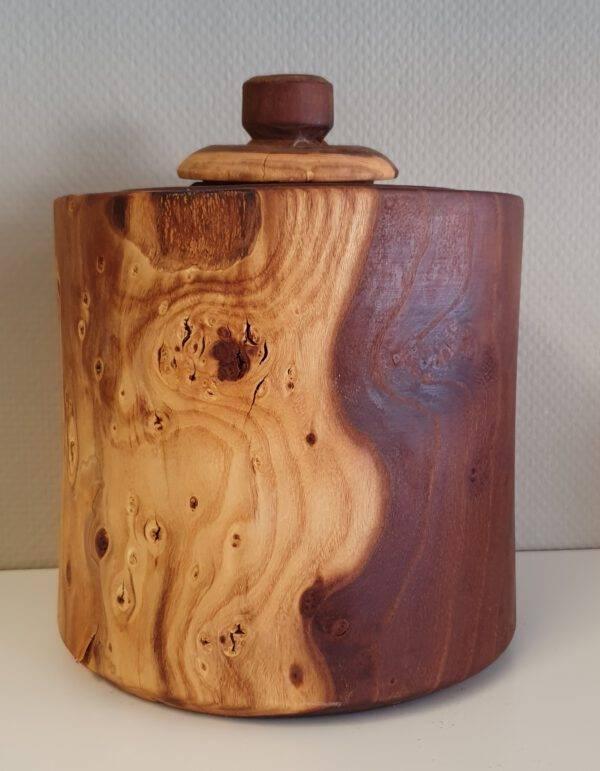 Houten urn Crematie as