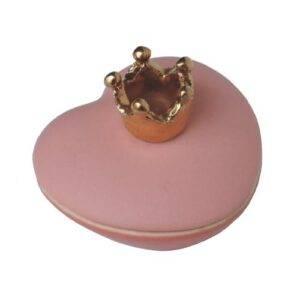 Hart mini urn roze keramiek