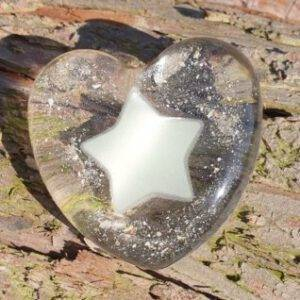 Resin hart star urn glow in the dark