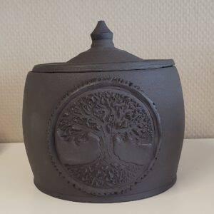 urn keramiek levensboom