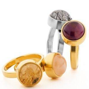 Tadblu asring assieraad goud edelstenen