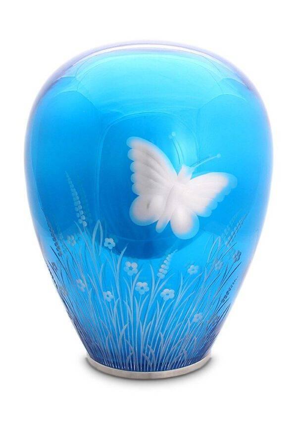 Blue Heaven Urn glas vlinderurn