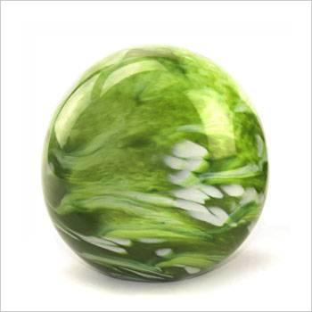 Urn glas bol elan line marble green