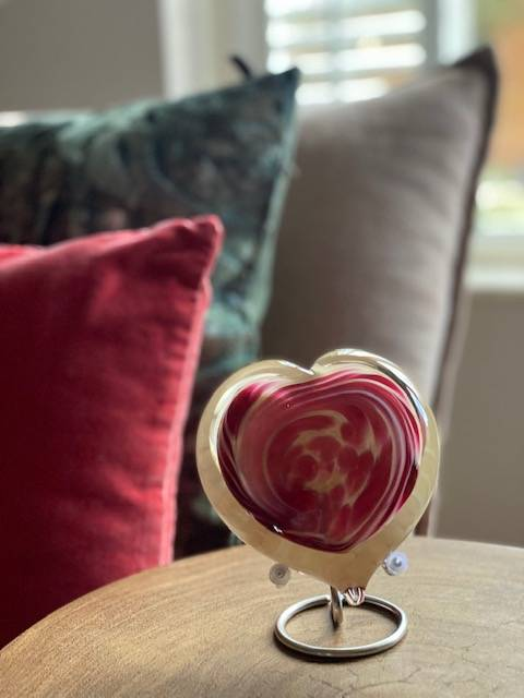 Urn hart glas mini urn